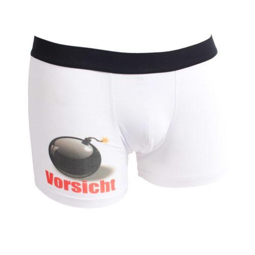 Boxer-Shorts weiß mit schwarzem Bund