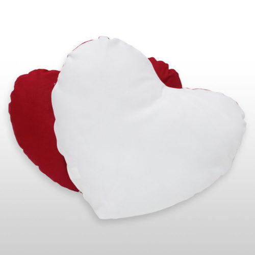 Herzkissen Rot-Weiß